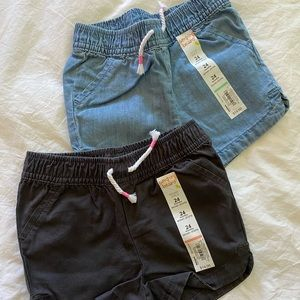 Bundle of 2 Pull On Jean Shorts
